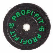 Диск для штанги HI-TEMP с цветными вкраплениями, PROFI-FIT D-51, 10 кг